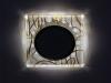 Светильник Ecola GX53 LD5311 стекло квадрат скошенный край с подсветкой золото на белом