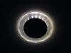 Светильник Ecola GX53 LD5313 стекло круг с вогнутыми гранями с подсветкой хром матовый