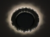 Светильник Ecola GX53 LD5313 стекло круг с вогнутыми гранями с подсветкой хром зеркальный