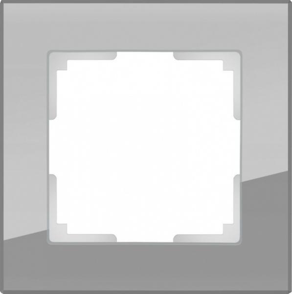WERKEL FAVORIT Рамка на 1 пост (серый, стекло)