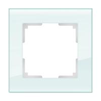 WERKEL FAVORIT Рамка на 1 пост (белый матовый, стекло) WL01-Frame-01