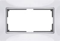 WERKEL SNABB Рамка для двойной розетки (белая/хром) WL03-Frame-01-DBL
