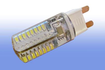 Лампа светодиодная G9 4Вт 64LED 3014 300 lm в силиконе 6500К