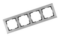 WERKEL METALLIC Рамка на 4 поста (глянцевый никель)