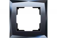 WERKEL DIAMANT Рамка на 1 пост (черный, стекло) WL08-Frame-01