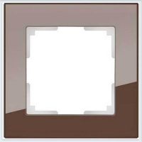 WERKEL FAVORIT Рамка на 1 пост (мокко, стекло)