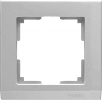 WERKEL STARK Рамка на 1 пост (серебряный) WL04-Frame-01