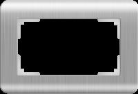 WERKEL Stream Рамка для двойной розетки (серебряный)
