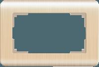 WERKEL Stream Рамка для двойной розетки (шампань) WL12-Frame-01-DBL