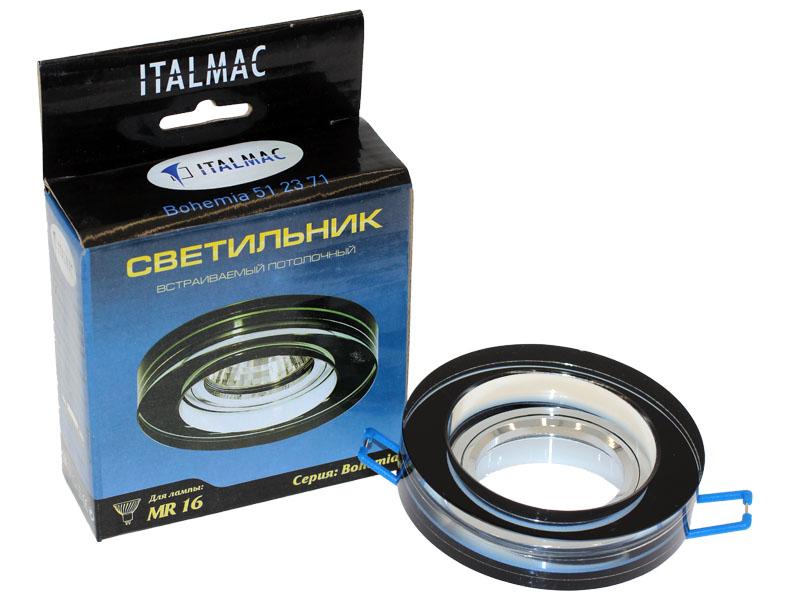 Св-к Italmac Bohemia 512371 MR16 черный круг Распродажа!