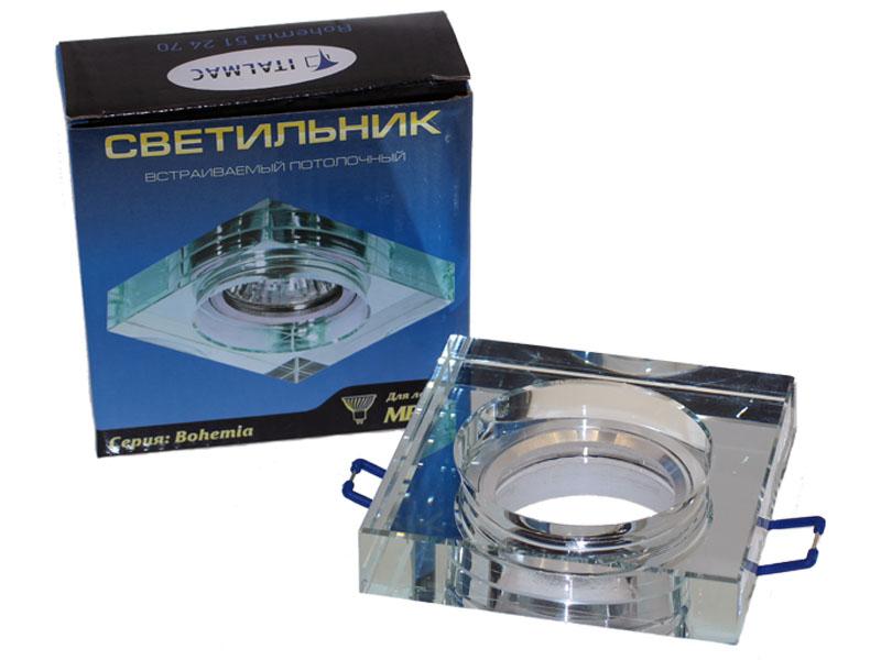 Св-к Italmac Bohemia 512470 MR16 прозрачный квадрат