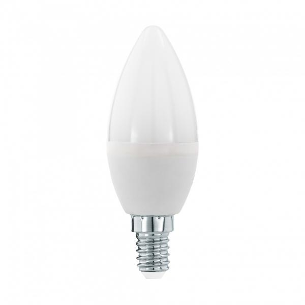 Лампа светодиодная Volpe E14  8Вт свеча матовая 6500К