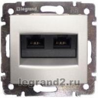 Legrand VALENA белый мех-зм розетки комп. 2м. RJ45