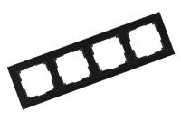 WERKEL STARK Рамка на 4 поста (черный) WL04-Frame-04
