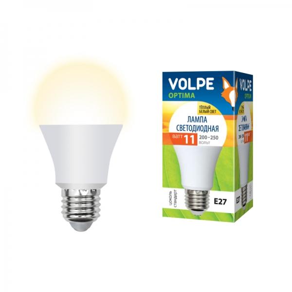 Лампа светодиодная Volpe E27 11Вт A60 матовая 3000К 900Лм