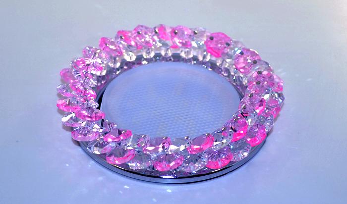 Светильник LBT GX5310 серебро розовый