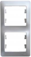 Рамка 2-м GLOSSA верт. алюминий