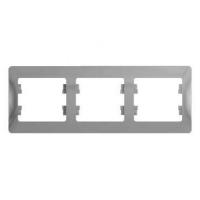 SchE GLOSSA алюминий рамка 3-м. гориз.