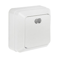 InHome BOLETTO белый выкл. 1кл. с подсв. 7121 10А