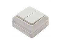 InHome BOLETTO белый выкл. 2кл. 7023 10А