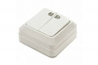 InHome BOLETTO белый выкл. 2кл. с подсв. 7123 10А