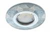 Св-к Ecola DL1654 MR16 стекло круг гранен. серебр. блеск/хром