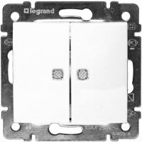 Legrand VALENA белый мех-зм выкл. 2кл. с подсв. 10А