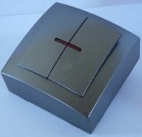Nilson Themis антрацит выкл. 2кл. с подсв. 10А