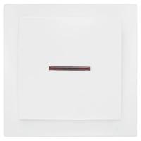 Nilson Themis белый выкл. 1кл. с подсв. 10А