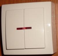 Nilson Themis белый выкл. 2кл. с подсв. 10А