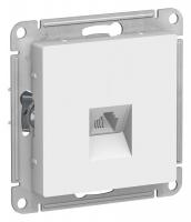 SchE AtlasDesign белый мех-зм розетки телеф. RJ11