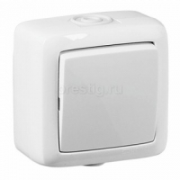 HEGEL ALFA IP44 белый выкл. 1кл. 10А