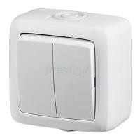 HEGEL ALFA IP44 белый выкл. 2кл. 10А