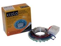 """Светильник Ecola LED LD7009 MR16  """"Кристалл"""" прозрачный/голубой/хром"""