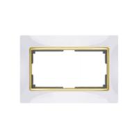 WERKEL SNABB Рамка для двойной розетки (белый/золото)