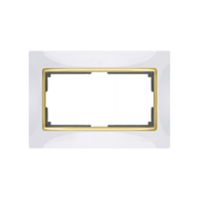 WERKEL SNABB Рамка для двойной розетки (белый/золото) WL03-Frame-01-DBL