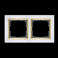 WERKEL SNABB Рамка на 2 поста (белый/золото)