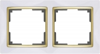 WERKEL SNABB Рамка на 2 поста (белый/золото) WL03-Frame-02