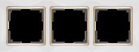 WERKEL SNABB Рамка на 3 поста (белый/золото) WL03-Frame-03