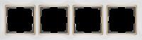 WERKEL SNABB Рамка на 4 поста (белый/золото) WL03-Frame-04