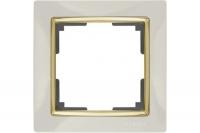 WERKEL SNABB Рамка на 1 пост (слоновая кость/золото) WL03-Frame-01