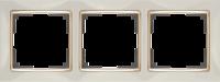 WERKEL SNABB Рамка на 3 поста (слоновая кость/золото) WL03-Frame-03