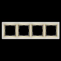 WERKEL SNABB Рамка на 4 поста (слоновая кость/золото) WL03-Frame-04