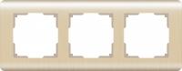 WERKEL Stream Рамка на 3 поста (шампань) WL12-Frame-03