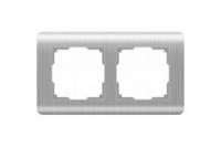 WERKEL Stream Рамка на 2 поста (серебряный)