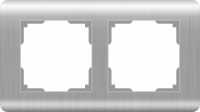 WERKEL Stream Рамка на 2 поста (серебряный) WL12-Frame-02