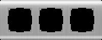 WERKEL Stream Рамка на 3 поста (серебряный) WL12-Frame-03