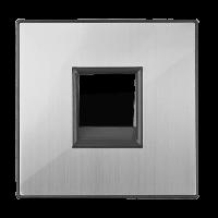 WERKEL Накладка для RJ45 RJ11 (глянцевый никель) WL02-RJ-CP