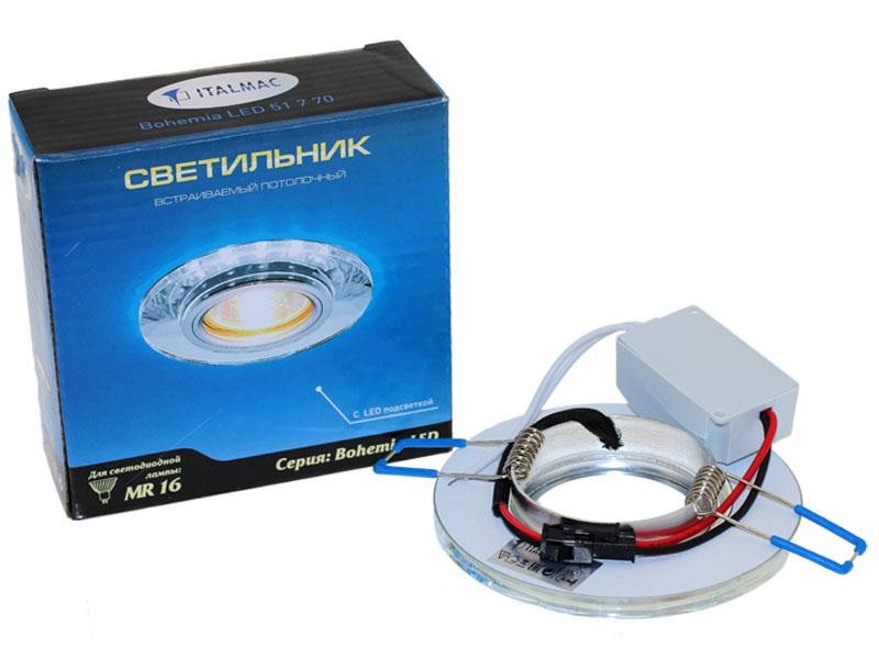 Св-к Italmac Bohemia LED 51770 MR16 круг гр прозрачный