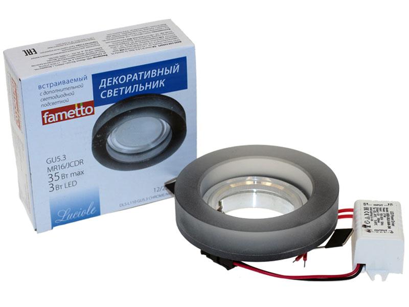Св-к Fametto L110 LED хром/черный Распродажа!